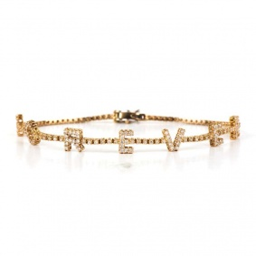 18k Rose Gold Diamond Forever Bracelet 0.89ct Total